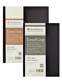 400 Series Toned Sketch Softcover Pad gray 7.75 in. x 9.75 in. 56 sheets