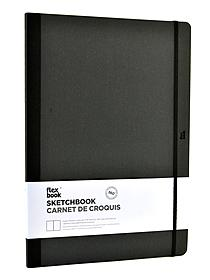 Flexbook Sketchbooks 8.5 in. x 12.25 in. black 80 pages