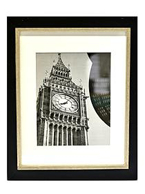 Taylor Wood Frames 11 in. x 14 in. black and silver 8 in. x 10 in. opening