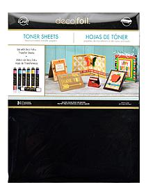 iCraft Deco Foil Toner Sheets non-adhesive 8 1 2 in. x 11 in. pack of 3