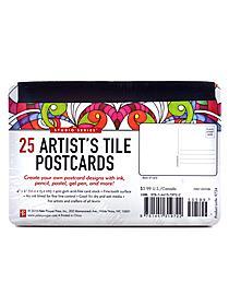 Artist's Tile Postcards each