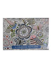 Coloring Postcards Thank You 48409