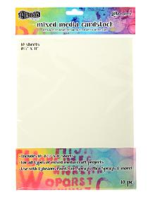 Dylusions Mixed Media Cardstock 8 1 2 in. x 11 in. pack of 10 sheets 53370