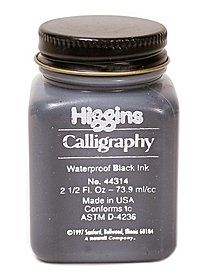Calligraphy Waterproof Black Ink