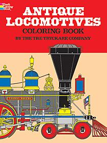 Antique Locomotives-Coloring Book