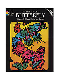 Butterfly Stained Glass Coloring Book Butterfly Stained Glass Coloring Book