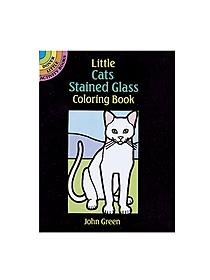 Cats-Stained Glass Coloring Book