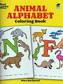 Animal Alphabet-Coloring Book