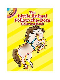 The Little Animal Follow-The-Dots Coloring Book