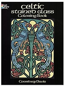 Celtic Stained Glass-Coloring Book