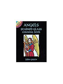 Angels Stained Glass-Coloring Book (8 pages)