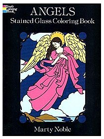 Angels Stained Glass Coloring Book (16 pages)