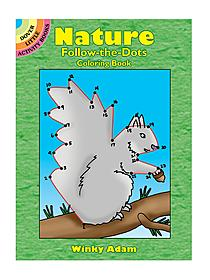 Nature Follow-The-Dots Coloring Book