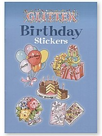 Glitter Birthday Stickers Glitter Birthday Stickers