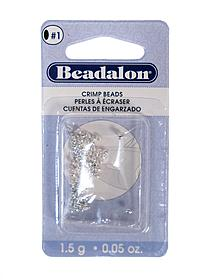 Crimp Beads #1 silver pack of 100