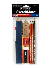 SketchMate charcoal and graphite drawing kit
