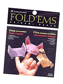 Fold'ems Fold by Number Origami Paper wild animals