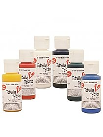 Totally Tattoo Body Paints Starter Primary Set assorted