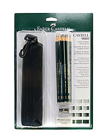 9000 Artist Graphite Drawing Set with Bag