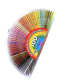 Rainbow of 100 Colors -- 100 Fine-Tip Markers