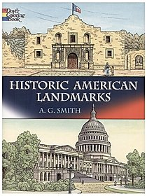 Historic American Landmarks Coloring Book