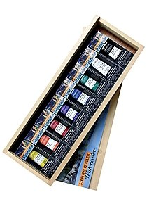 Steve Quiller Professional Watercolor Wooden Box Set