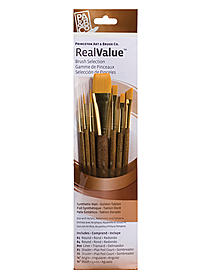 Real Value Series 9000 Brown Handled Brush Sets