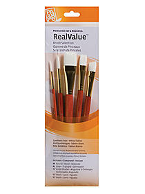 Real Value Series 9000 Orange Handled Brush Sets 9155 set of
