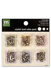 Circle Crystal Brad Value Packs