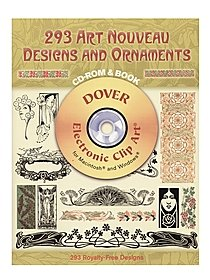293 Art Nouveau Designs and Ornaments: CD-ROM and Book