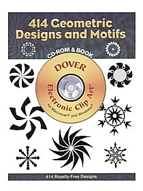 414 Geometric Designs and Motifs: CD-ROM and Book