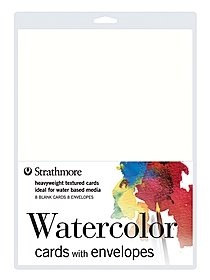Watercolor Cards with Envelopes pack of 8