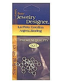 Jump Rings nickel plated brass 7 mm pack of 70