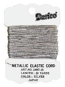 Metallic Elastic Cord silver