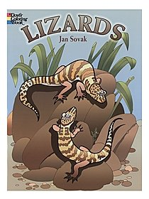 Lizards Coloring Book