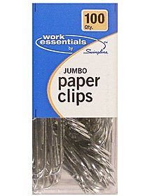 Work Essentials Jumbo Paper Clips