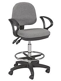 Vesuvio Drafting and Desk Chairs desk height gray