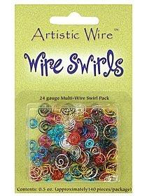 Wire Swirls earthtones pack of 140
