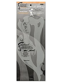 Pin-Up Shield Airbrush Template