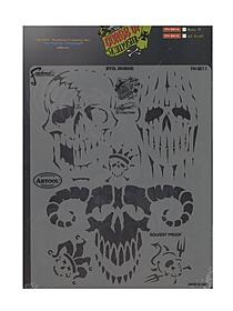 Curse of Skull Master Freehand Airbrush Templates by Craig Fraser