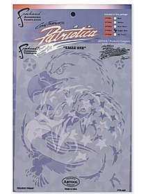 Patriotica Eagle One Freehand Airbrush Template by Craig Fraser