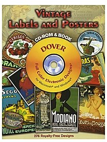 Vintage Labels and Poster: CD-ROM and Book