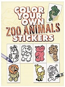 Color Your Own Zoo Animals Stickers