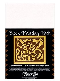 Thai Mulberry Block Printing Paper Packs