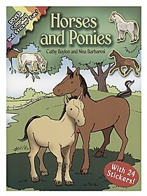 Horses and Ponies: Coloring and Sticker Fun