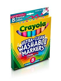 Washable Markers -- Tropical Colors