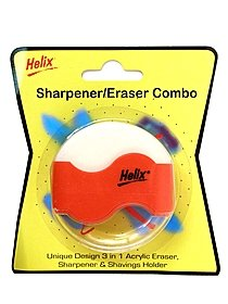 Wave Combo Eraser & Sharpener