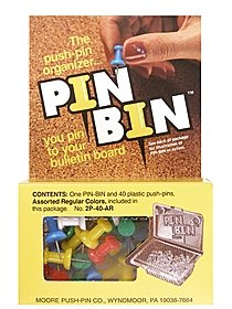 PIN-BIN Push-pin Organizer clear