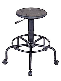 Utility Stool stool with backrest