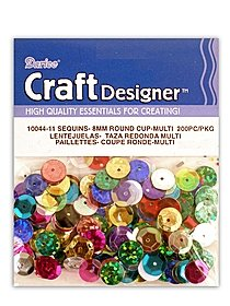 Round Cup Sequins purple 63346